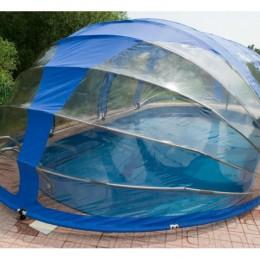 Тент для бассейна овальный Тентнавес 360х560 L200 (9 дуг 5 усиленных) из ПВХ 200 мкм