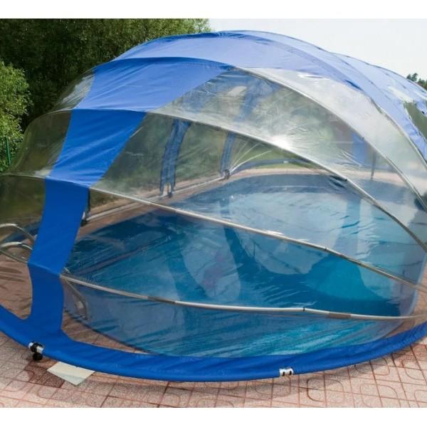 Тент для бассейна овальный Тентнавес 360х560 L200 (9 дуг 5 усиленных) из ПВХ 200 мкм купить с доставкой по РБ